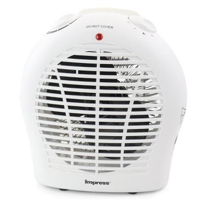 Impress Electric Fan Heater in White