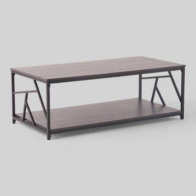 Yorkridge Industrial Coffee Table Dark Gray - Christopher Knight Home
