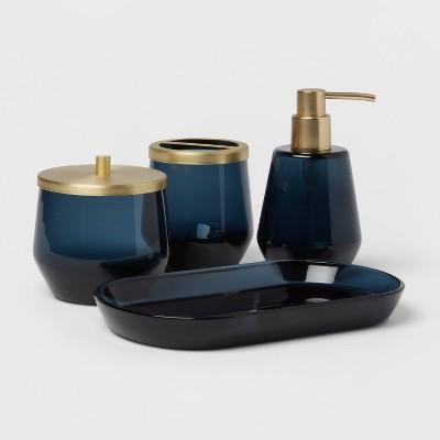 4pc Bath Coordinates Set Blue - Threshold™