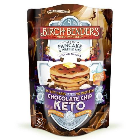 Birch Benders Gluten Free Keto Chocolate Chip Pancake & Waffle Mix - 10oz - image 1 of 3