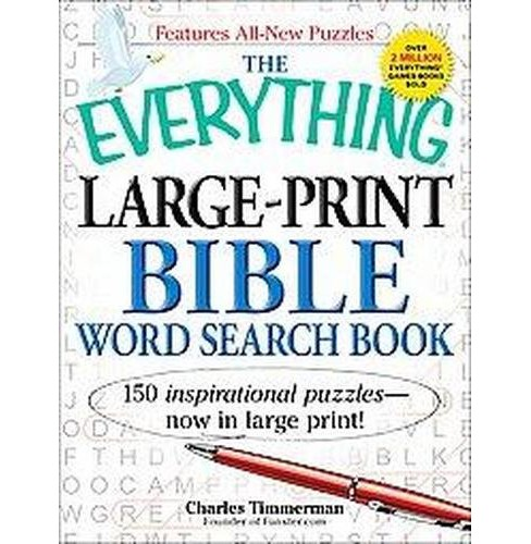Everything Large-Print Bible Word Search Book : 150 Inspirational Puzzles (Large Print) (Paperback) - image 1 of 1