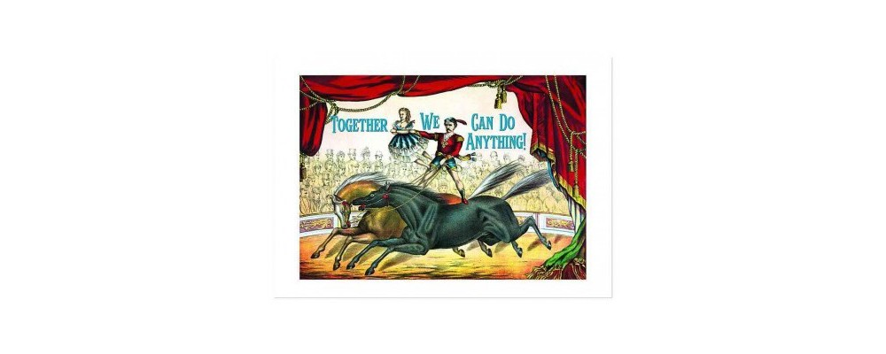 Circus Performers Anniversary Card (Stationery)