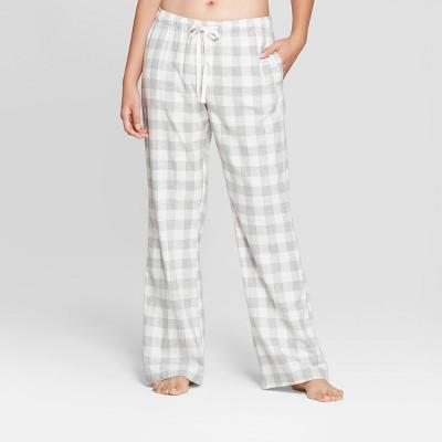 Women's Plaid Flannel Pajama Pants - Gilligan & O'Malley™ Cream M
