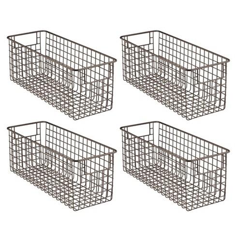 mDesign Metal Wire Food Storage Organizer Bin - image 1 of 4