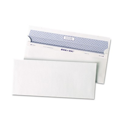 Quality Park Reveal N Seal Business Envelope #10 4 1/8 x 9 1/2 White 500/Box 67218