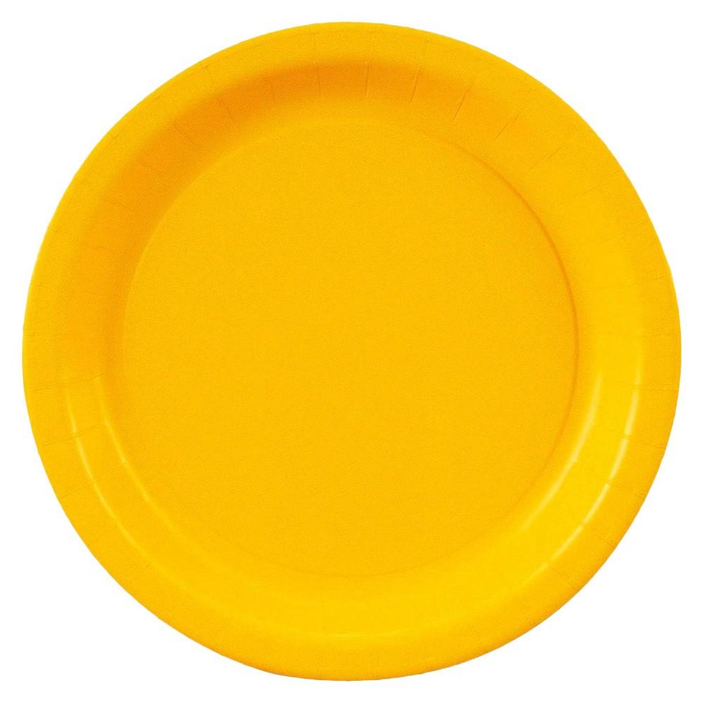 48ct Dessert Plate Yellow