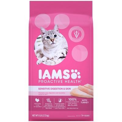 Iams Sensitive Digestion & Skin Dry Cat Food - 6lb