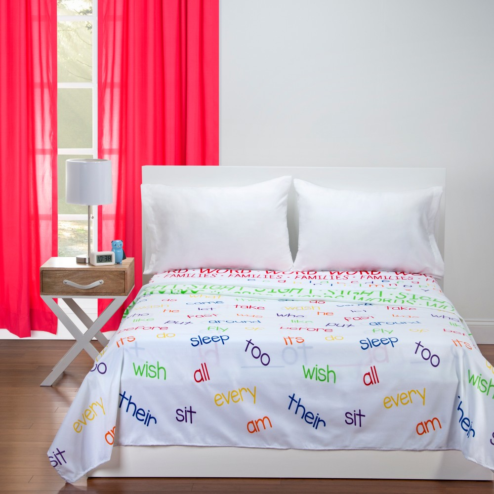 Image of Educational Word Families Sheet Set (Full) - Learning Linens