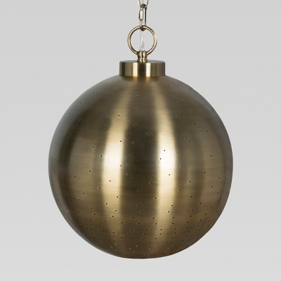 Brass Hanging Pendant Lamp (Includes CFL Bulb)- Threshold™