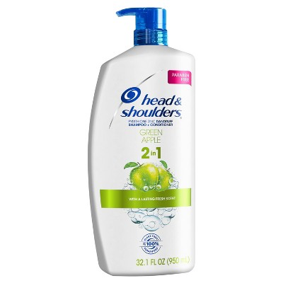 Head and Shoulders Green Apple Anti-Dandruff Paraben Free 2-in-1 Shampoo and Conditioner - 32.1 fl oz