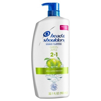 Head And Shoulders Green Apple Anti-Dandruff Paraben Free 2-in-1 Shampoo And Conditioner - 32.1 Fl Oz : Target