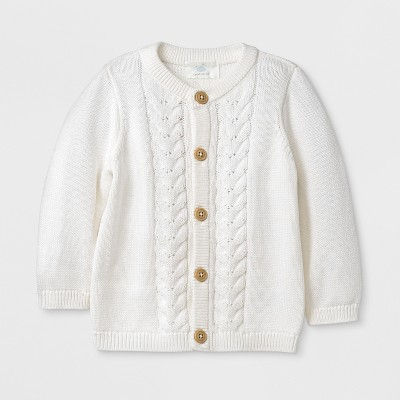 Baby Long Sleeve Cardigan - Cloud Island™ Ivory 3-6M