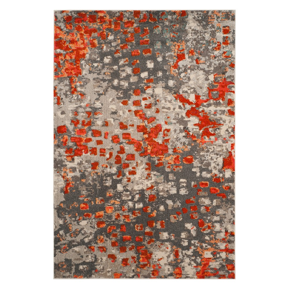 Shapes Area Rug Gray/Orange