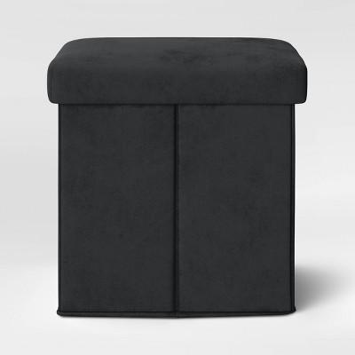 Foldable Storage Ottoman Black - Room Essentials™