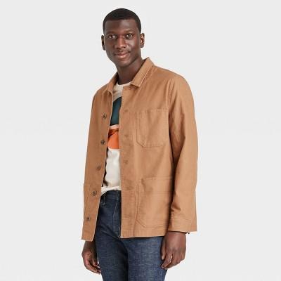 Men's Regular Fit Stretch Canvas Chore Shirt Jacket - Goodfellow & Co™