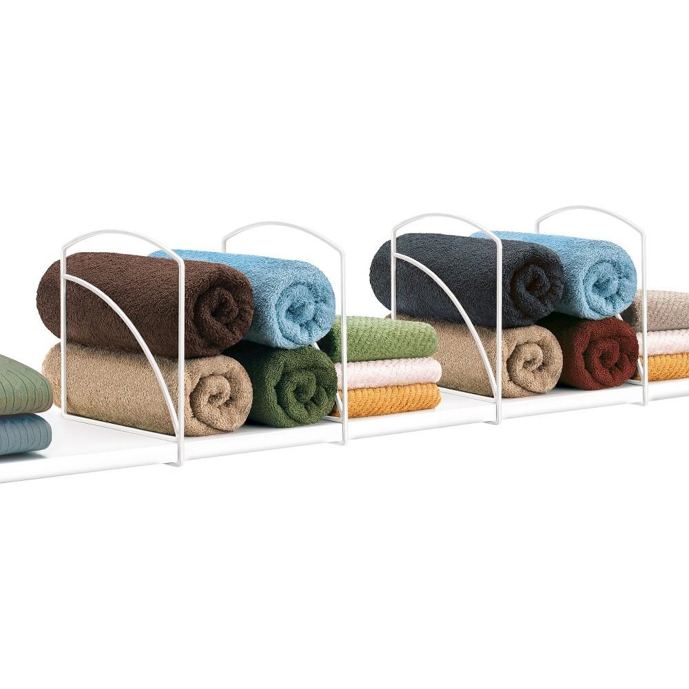 Image of Lynk Shelf Dividers (Set of 4) - Closet Shelf Organizer - White