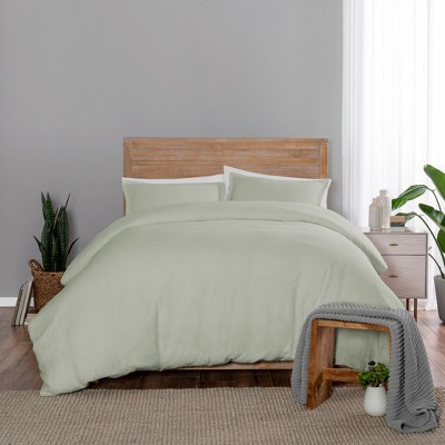 Full/Queen 3pc Lark Duvet Set Green - Vue