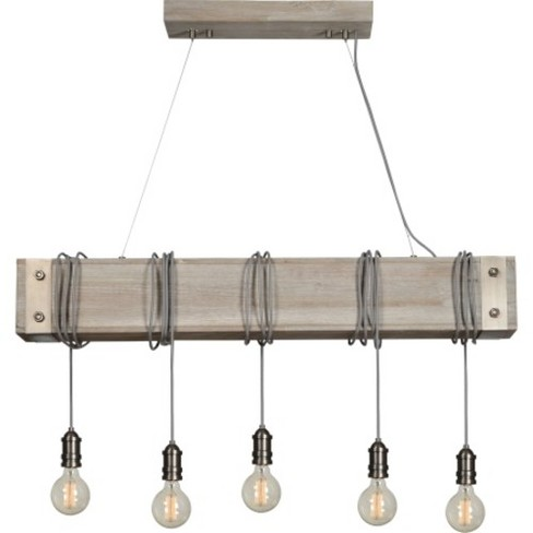 "Ren Wil LPC4349 Suzette 5 Light 47"" Wide Linear Chandelier - image 1 of 1"