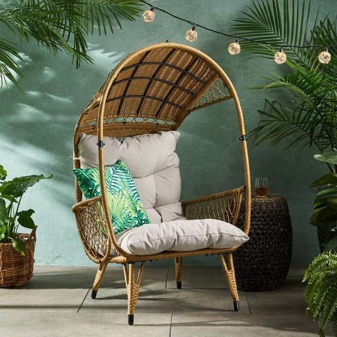 Malia Wicker Standing Basket Chair - Christopher Knight Home - image 1 of 4