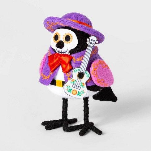 Da de Muertos Guitar Player Fabric Bird Decorative Figure - image 1 of 1
