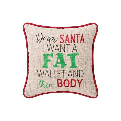 """C&F Home 10"""" X 10"""" Fat Wallet Embroidered Pillow : Target"""