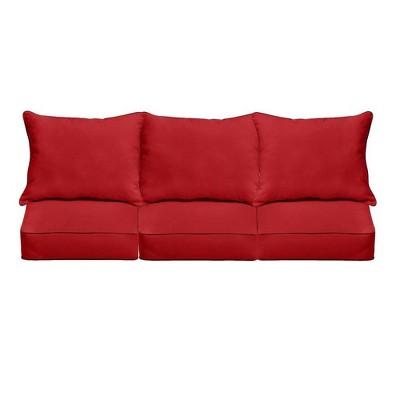 Sunbrella Jockey Outdoor Seat Cushion Red