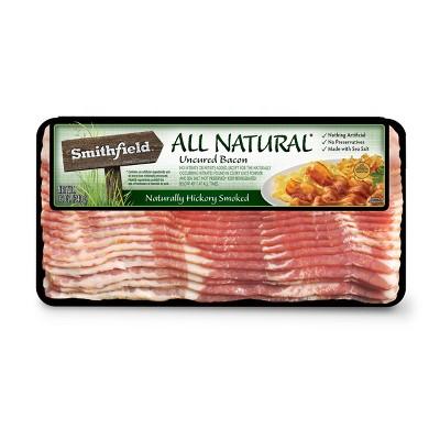 Smithfield All Natural Hickory Smoked Bacon - 12oz