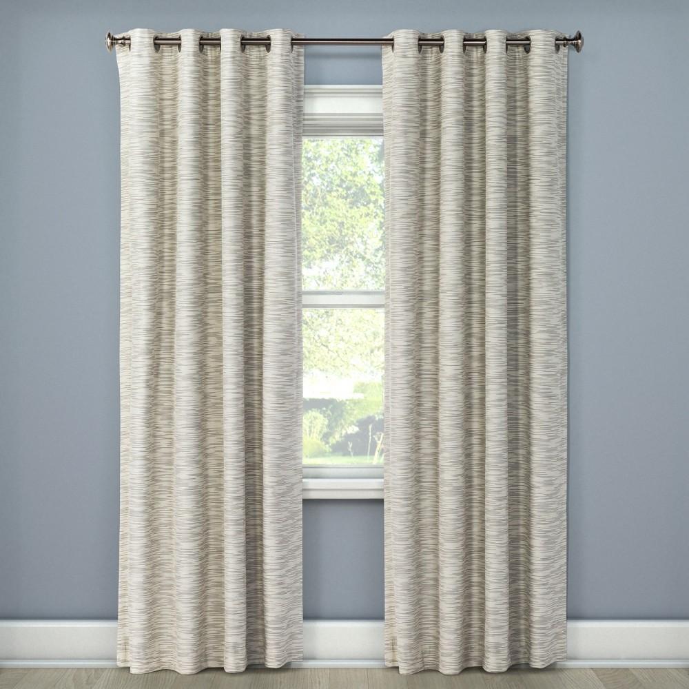 Tara Stripe Light Blocking Curtain Panel Ivory (50
