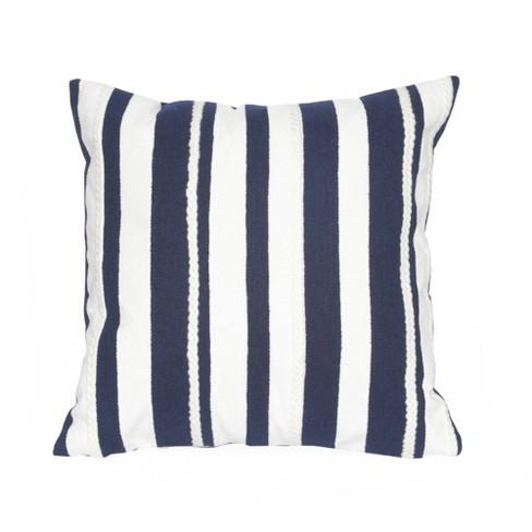 Blue Marina Stripe Throw Indoor Outdoor Throw Pillow 20 X20 Liora Manne Target