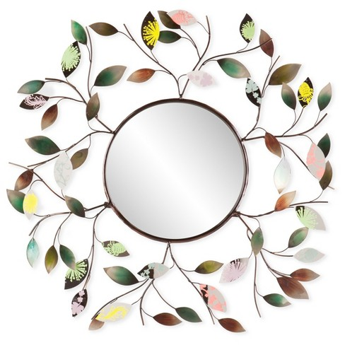 Decorative Metallic Leaf Wall Mirror - Aiden Lane - image 1 of 3