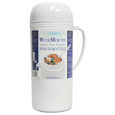 Brentwood Wide Mouth Mouth Glass Vacuum/Foam Insulated Food Thermos