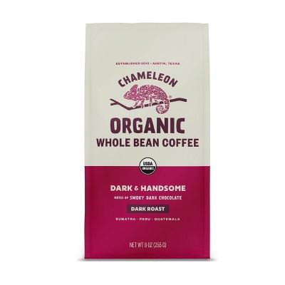 Chameleon Organic Dark & Handsome Dark Roast Whole Bean Coffee - 9oz