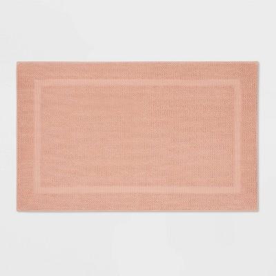 "23""x37"" Performance Texture Cotton Memory Foam Bath Rug Clay - Threshold™"