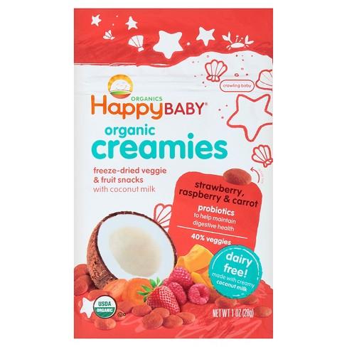 Happy Creamies Strawberry & Raspberry Veggie & Fruit Snacks - 1oz - image 1 of 4