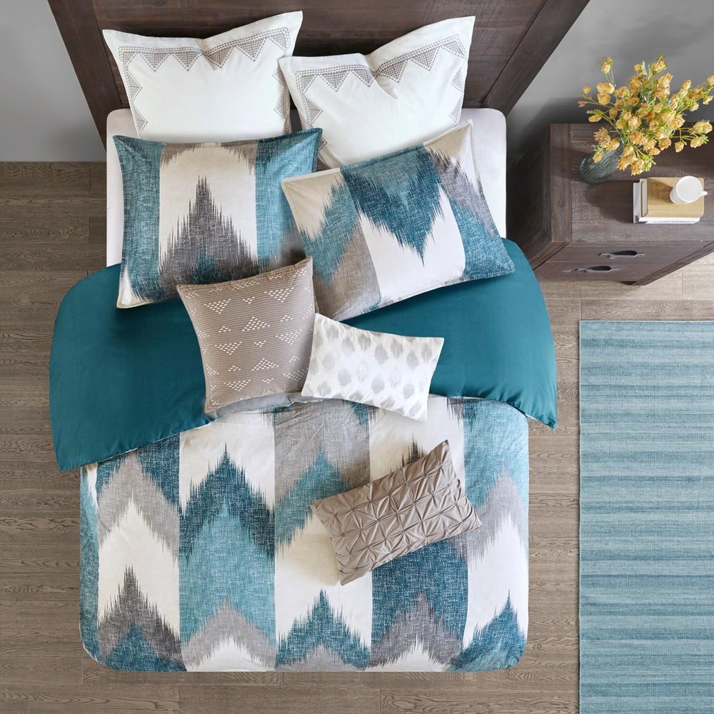 3pc King/California King Alpine Cotton Duvet Cover Mini Set Aqua Coupons