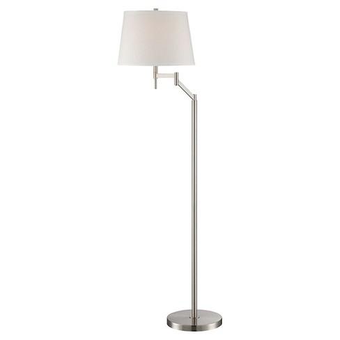 Lite Source Eveleen 1-LT Floor Lamp - Polished Steel (Lamp Includes Energy Efficient Light Bulb) - image 1 of 1