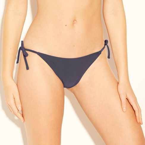 Women's String Bikini Bottom - Xhilaration™ Blueberry - image 1 of 4