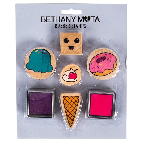 Bethany Mota Sweets Rubber Stamps with Ink - image 1 of 1