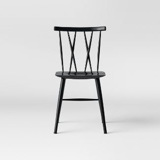 Becket Metal X Back Dining Chair Black - Project 62™