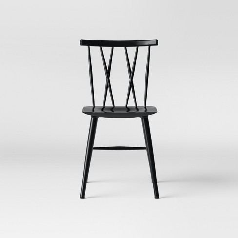Becket Metal X Back Dining Chair Black Project 62