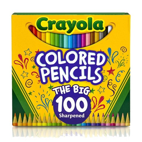 Crayola 100ct Sharpened Colored Pencils - image 1 of 4