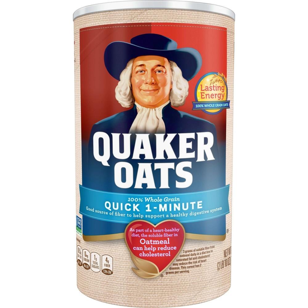 Quaker Oats Heart Healthy Quick 1-Minute Oats - 42oz