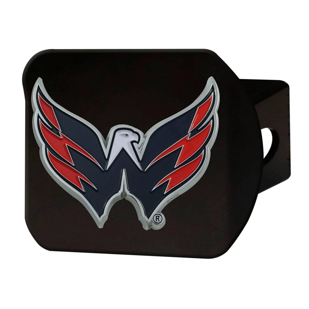 Nhl Washington Capitals Metal Emblem Hitch Cover Black