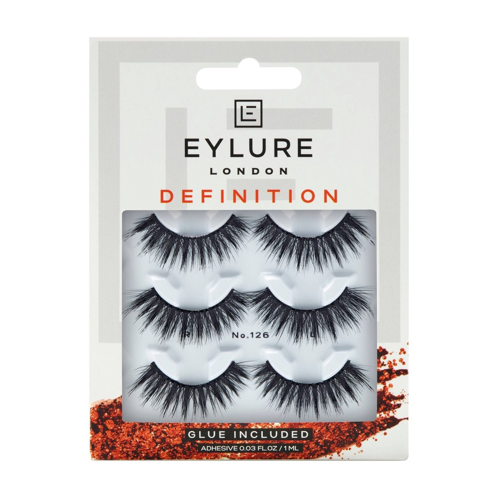 Image of Eylure False Eyelashes Definition 126 - 3pr