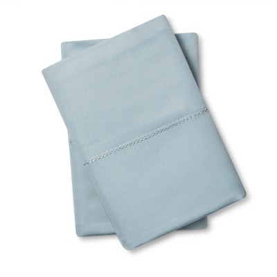 Supima Classic Hemstitch Pillowcase Set (Standard)Aqua Spill 700 Thread Count - Fieldcrest™