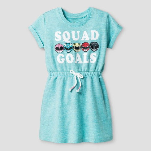 aae445764c Toddler Girls  Power Rangers A Line Dress Saban Aqua 3T   Target