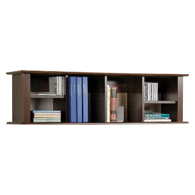 Wall Mounted Desk Hutch Espresso - Prepac