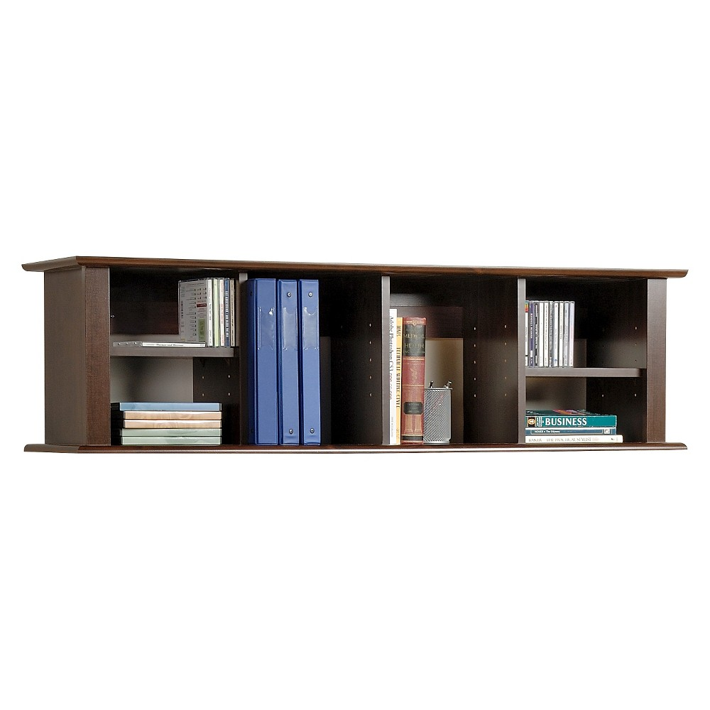 Image of Wall Mounted Desk Hutch Espresso - Prepac
