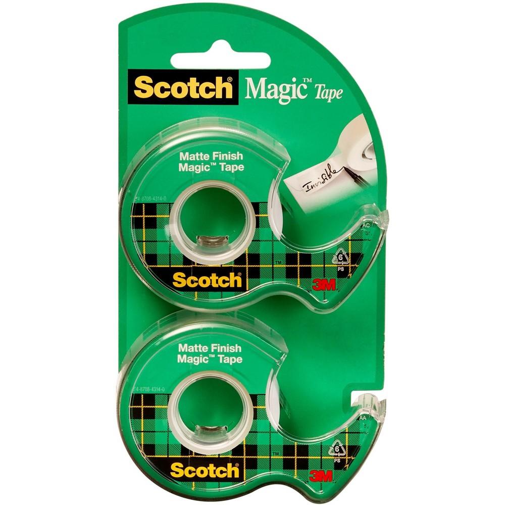 Scotch Magic Tape, 3/4 x 600, 2PK, Clear