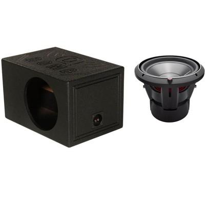 "Q-POWER Single 12"" Sub Box Enclosure & ROCKFORD FOSGATE 12"" 1200 Watt Subwoofer"